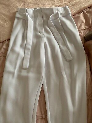 girls river island age 12 White trousers
