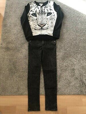Girls H&M Outfit , Skinny Jeans And Jumper Age 10 Years