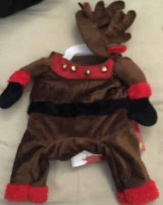 Dog Puppy Pet Christmas Xmas Funny Arm Outfit Reindeer - Small Medium Large