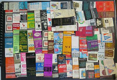 ••  Australian MATCHBOXES   54 x HOTELS, INNS and MOTELS Logos    USED   AB7  ••