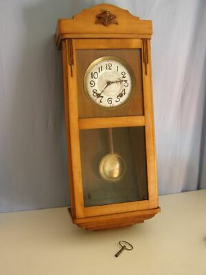Old wall clock, pendulum mechanism, ring: 1 hammer and 1 rod