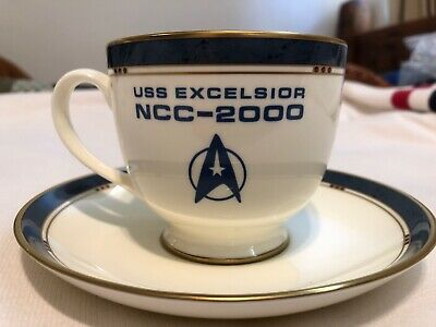 Star Trek 6. The Undiscovered Country. Sulu's Cup And Saucer. USS Excelsior.