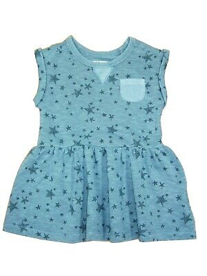 NEXT BABY GIRLS' GREY DRESS 9-12, 12-18, 18-24 Months, 2-3 Years Pigment Dyed