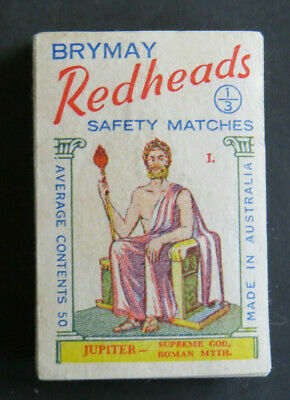 ••  Brymay Redheads LABELS   MYTHOLOGICAL Series   Complete Set of 64   AB9  ••