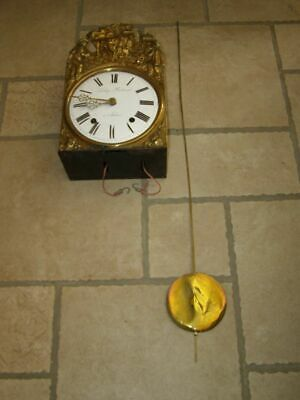 Old movement of comtoise, ringtone: Bell, with pendulum lens D 13,5cm