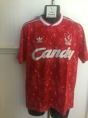 Liverpool FC LFC CANDY Adidas Originals Home Football Shirt Medium NEW BNWT 1990