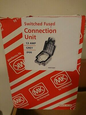 Outdoor weatherproof MK K56410GRY IP66 Switched Fused Spur