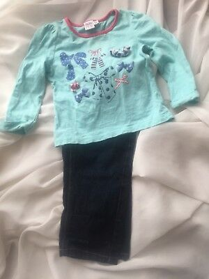 Reduced:Girls toddler outfit. Jeans 9 to 12 tshirt 1 to 1.5 years.