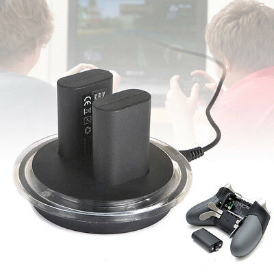 2x Rechargeable Battery + Charging Charge Dock Station for XBOX ONE Contro OQF