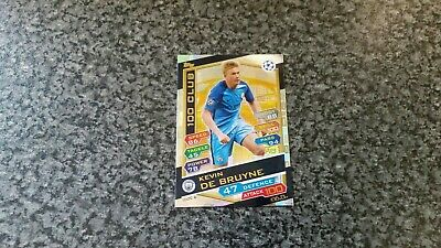 Match Attax Ucl 2016/17 100C6 Kevin De Bruyne Hundred 100 Club Mint