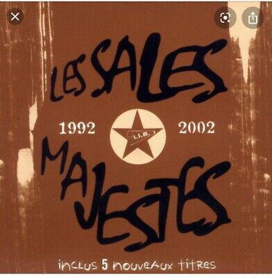 Cd Les Sales Majestes Compil 92/2002