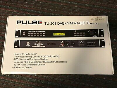 "Pulse TU-201 DAB/FM Radio Tuner - 1U 19"" Rack Mount"