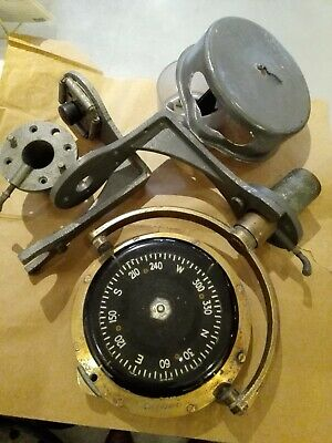 Vintage Brass & Black Dial Henry Browne & Sons Ltd Sestrel Moore Ships Compass