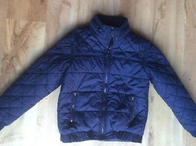 M&S Boys Navy Quilted Padded Jacket Age 11-12 Years