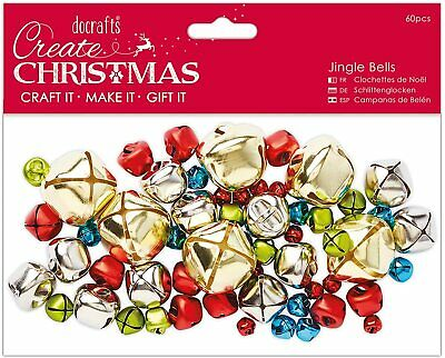 DoCrafts Jingle Bells 30pcs Silver Assorted Sizes