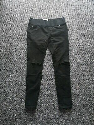 New Look Maternity Jeans Size 10 Black Skinny fit Distressed