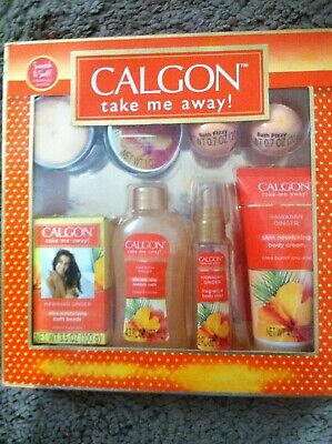 Calgon  -Take Me Away-Hawaiian Ginger 6 Pc Gift Set For Bath & Body
