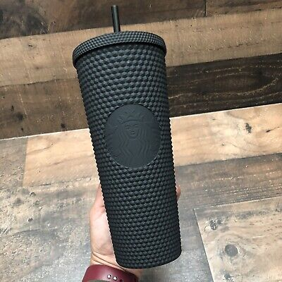 Fall 2019 Starbucks Matte Black Spiked Studded Tumbler Cold Cup Limited Edition