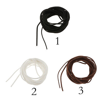 10pcs Black Genuine Leather String Chain Findings 45+5cm //Lobster Clasp DZ297
