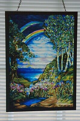 Louis Tiffany Stained Glass Sun Catcher Rainbow