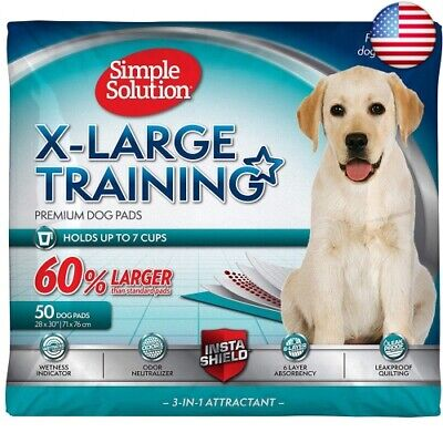 Simple Solution Training Puppy Pads | Extra Large, 6 Layer Dog Pee Pads  (50 ct)