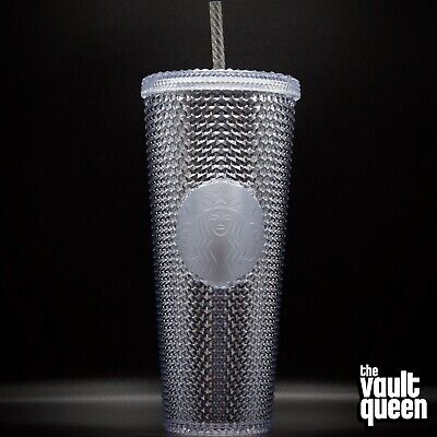 Starbucks Studded Platinum Cold Cup Tumbler WINTER HOLIDAY 2019 24 oz Bling