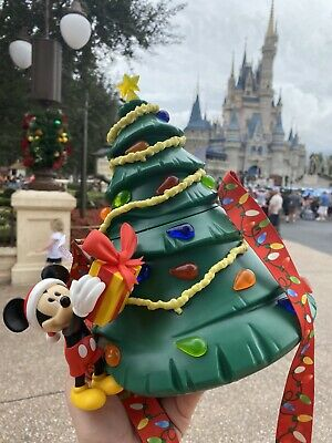 NEW DISNEY PARKS Mickey Mouse 2019 Christmas Tree Popcorn Bucket