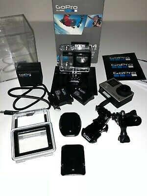 BOXED GoPro HERO4 SILVER Action Camera excellent condition + Dual Battery Charge