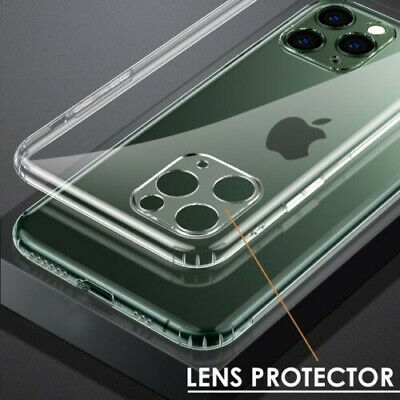 CLEAR Case For iPhone 11 Pro Max With LENS Protector Cover Silicone Shockproof