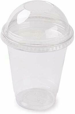 Shop-Tek 12-Oz (30 Counts) Clear Plastic Cup with Dome Lid (No Hole)