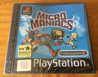 ***NEW & FACTORY SEALED*** MICRO MANIACS. Playstation, PS1. Unopened Game. Rare.