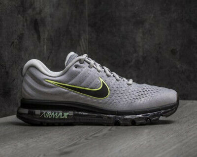New Nike Air Max 2017 Grey Volt Black Men's Size 8-11 Running Sneaker 849559-401