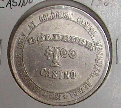1981 Goldrush Casino Wendover Nevada $1 Token - Vintage - Casino Closed