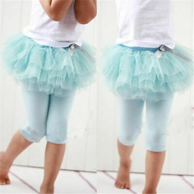 1 Pc Children Girl Tutu Skirt Culottes Leggings Gauze Pants Party Skirts With Bo