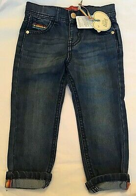 Little Bird By Jools Oliver Turn Up Denim Jeans With Adjustable Waist Age 3-4 Yr