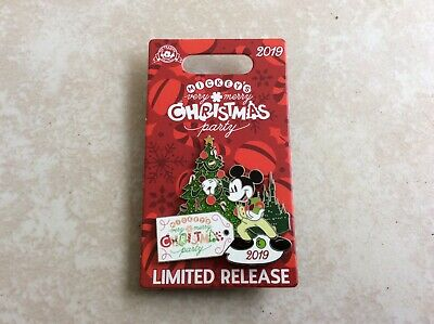 Mickey's Very Merry Christmas Party 2019 Disney Logo pin