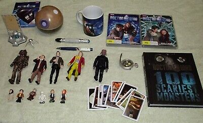 Dr Who, bulk lot = Dalek, sonic screwdriver, Dvd's, Dr Who Figures, Fob Watch