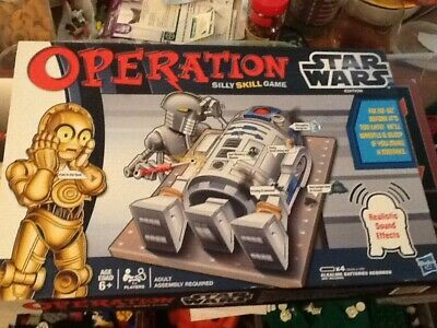 Star Wars Edition ~ Used Nice Operation Board Game 2012 Hasbro R2D2 C3PO