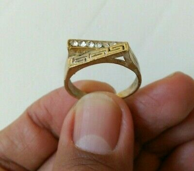 Rare Extremely Ancient Bronze Old Legionary Roman Ring Artifact Authentic