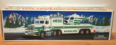 1995 Hess Toy Truck + Helicopter Mint in Box