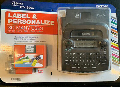 Brother P-touch PT-1890w Labeler & 2 Tapes Thermal Machine Label Printer Maker