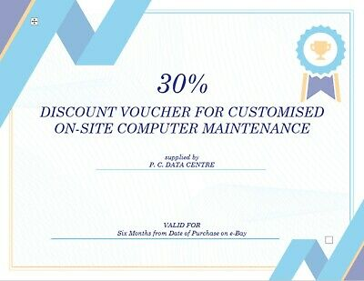 20% off Discount Gift Voucher Coupon for Onsite Computer Maintenance