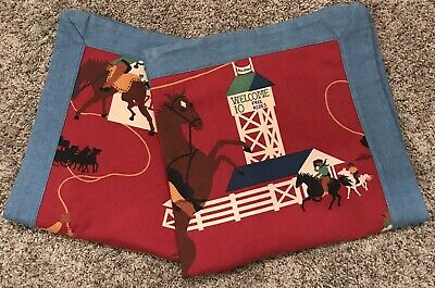 Wendy Bellissimo WILD WEST COWBOY RODEO EURO SHAMS~ Set of 2~