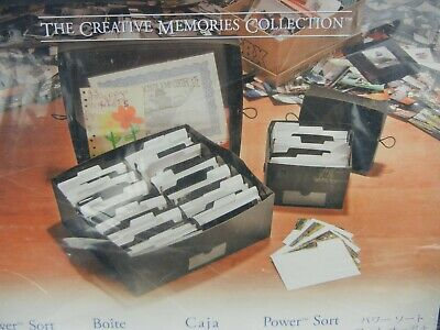 NEW Creative Memories Large Power Sort Box Holds 2400 Photos for Scrapbooking