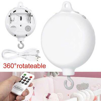 Rotary Baby Bed Bell Crib Musical Mobile Cot MusicBox Gift Baby Rattles Toy