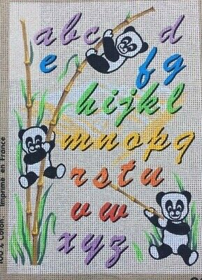 Tapestry - Printed Canvas - Pandas Alphabet - Made in France for LUC