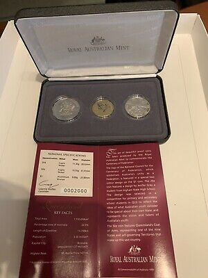 Queensland 2001 Centenary of Federation State Proof Coin Set Bolxed