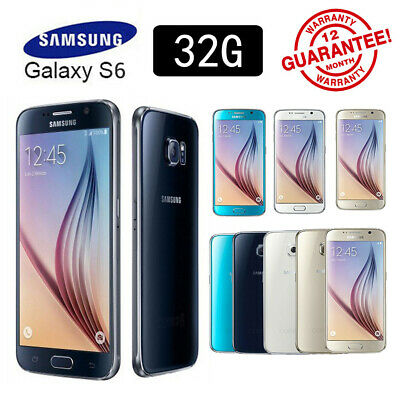 New Sealed Box Samsung Galaxy S6 G920F LTE 4G Mobile 32GB 12 Month Warranty HOT!