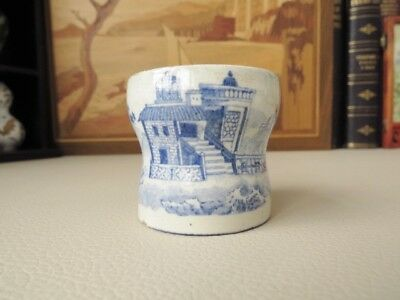 Antique 18th c Blue & White Pottery Egg Cup - Chinese Export  Qing Dynasty