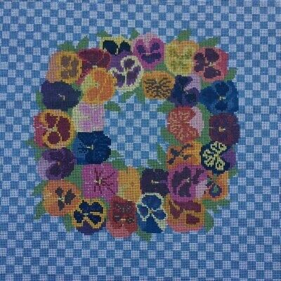 Tapestry - Printed Canvas - Pansies - Mono Canvas by Coats Patons